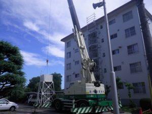 高架水槽撤去(クレーン使用)